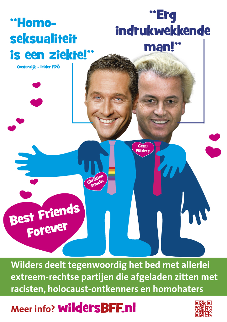 Dutch poster against Geert Wilders' collaboration with the Austrian FPÖ